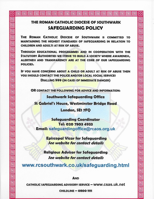 Diocesan Safeguarding Policy